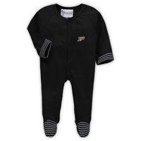 Purdue Boilermakers Newborn & Infant Stripe Sleeper - Black