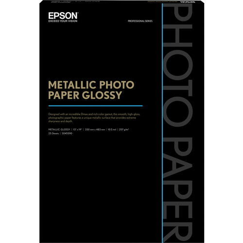 Epson S045590M Metallic Photo Paper Glossy 13x19 - 25 Sheets