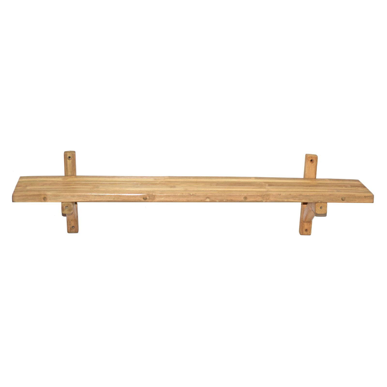 Bamboo54 Single Wall Bamboo Shelf Walmart Com