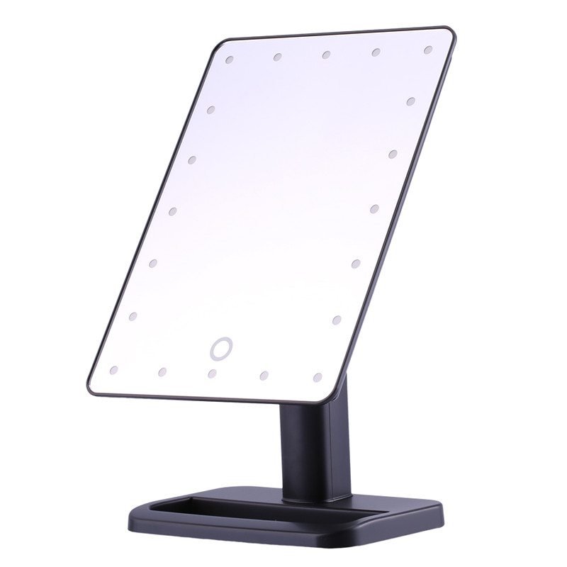 Makeup Mirror 20 LED Lighted Touch Screen Illuminated Makeup Stand Mirror Tabletop Lighted Cosmetic Vanity Mirrors by HURRISE SPORT