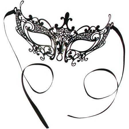 Elegant Laser Cut Mask Small Adult Halloween Accessory](Cut It Halloween Android)