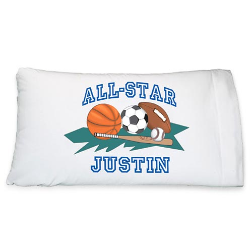 Personalized Sports Pillowcase