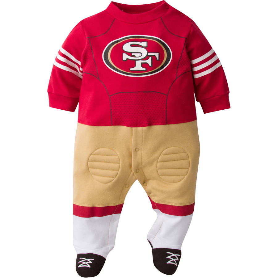 NFL San Francisco 49ers Baby Boys Team Uniform Footysuit with Cleats