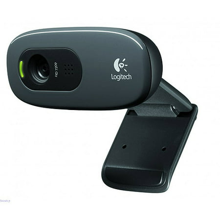 Logitech C270 Webcam   Black   Usb 2 0   1 Pack S    3 Megapixel Interpolated   1280 X 720 Video   Widescreen   Microphone