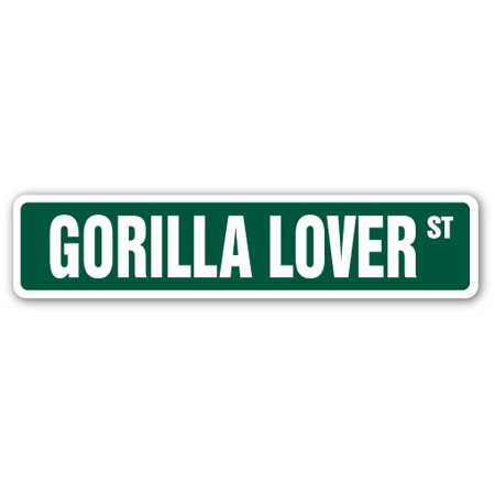 Garage Gorilla - Gorilla Lover Street [3 Pack] of Vinyl Decal Stickers   Indoor/Outdoor   Funny decoration for Laptop, Car, Garage , Bedroom, Offices   SignMission