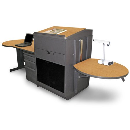 Marvel Office Furniture Vizion Teacher's Desk with Media Center and Lectern