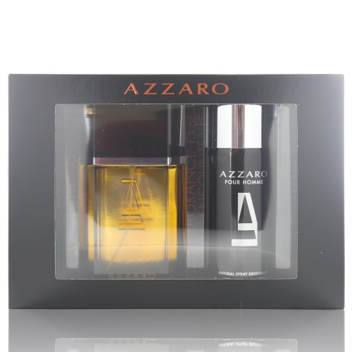 AZZARO MEN 2 PIECE GIFT SET - 3.4 OZ EAU DE TOILETTE SPRAY by AZZARO