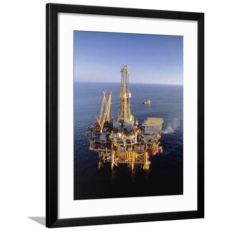 Off-Shore Oil Rig Framed Print Wall Art By Ken Glaser (Klare Gläser Frames Amazon)