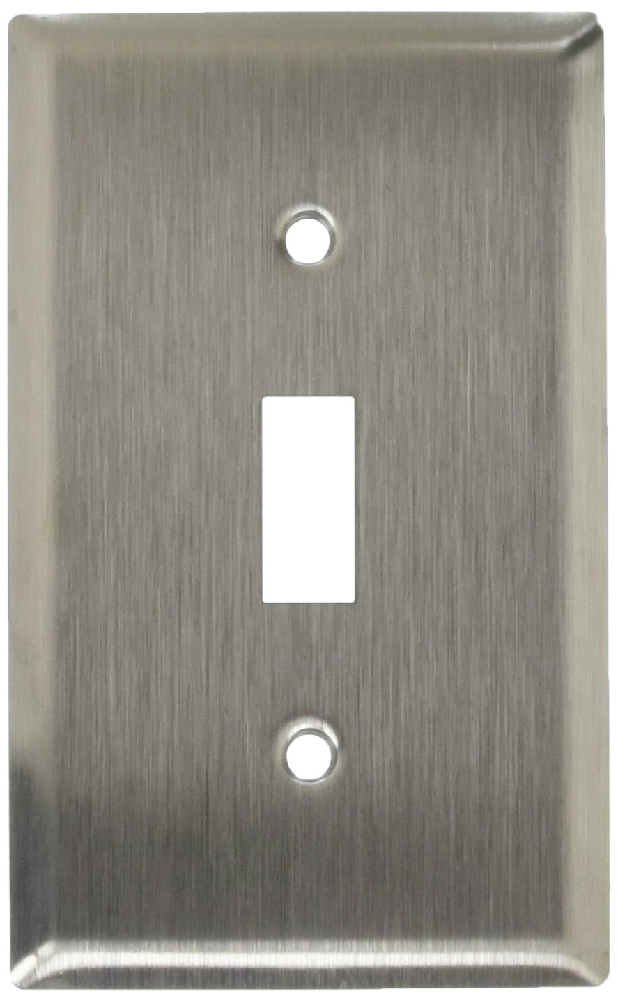 Electrical Supplies Cooper Stainless Steel 1 Gang Toggle Switch Wall Plate Cover Switchplate 93071 Home Garden Gefradis Fr