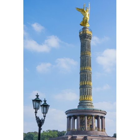 Victory Tower Siegessaule in City Center, Berlin, Germany Print Wall Art By Bill Bachmann