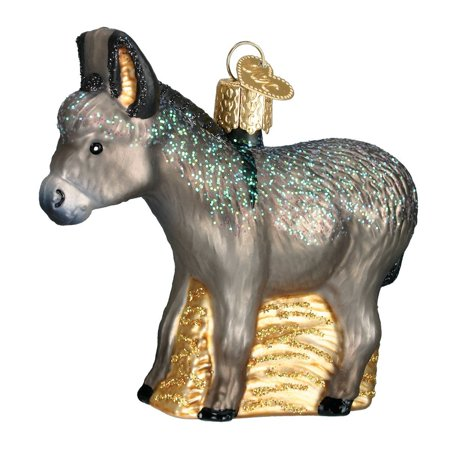 Donkey Glass Blown Ornament, Hand crafted in age-old tradition using techniques that originated in the 1800's By Old World - Chinese Christmas Traditions