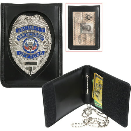 Rothco Leather Neck Identification Badge Holder