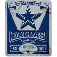 """NFL Dallas Cowboys Fleece 50"""" x 60"""" Northwest Marque Throw Blanket, 1 Each"""