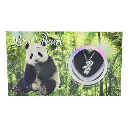 """Panda Love Wish Pearl Kit Cultured Pearl Necklace Set with Stainless Steel Chain 16"""""""