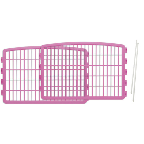 Iris 2-Piece Add-On Kit for 4-Panel Indoor/Outdoor Pet Pen for Dogs