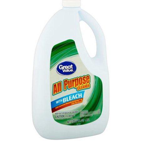 Bleach Cleaner - Great Value All Purpose Cleaner with Bleach, 64 fl oz