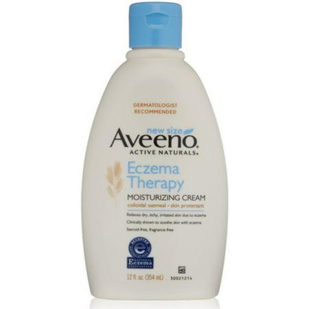 4 Pack - Aveeno Active Naturals Eczema Therapy Moisturizing Cream, 12 (Active Moisturizing Cream)