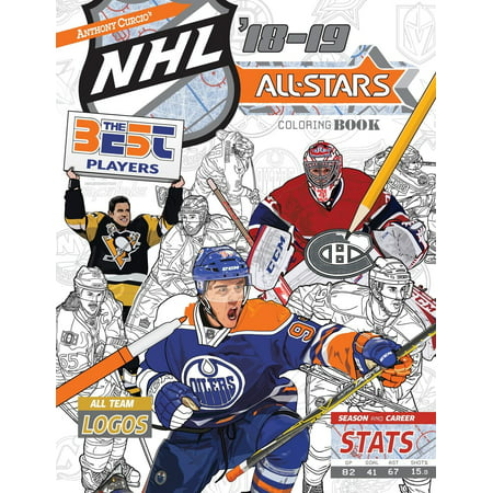 NHL All Stars 2018-19 : The Ultimate Hockey Coloring Book for Adults and - Kids And Adults
