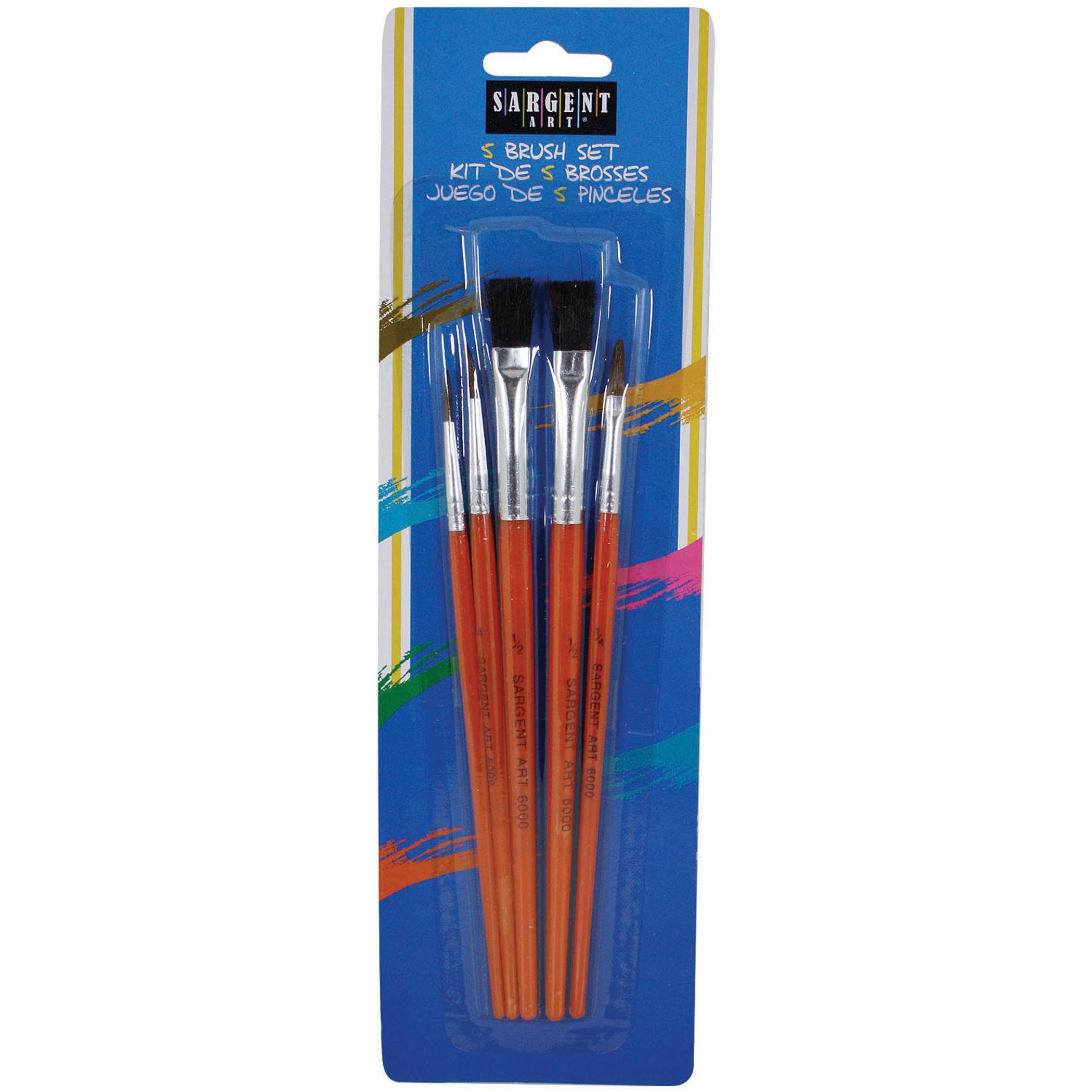 Sargent Art® All Purpose Brush Set - 5 per set, 12 sets
