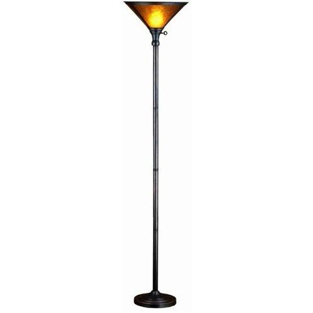 72 inch h van erp amber mica torchiere floor lamps. Black Bedroom Furniture Sets. Home Design Ideas