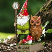 Evergreen Enterprises, Inc Gnome and Owl Key Hider Statue