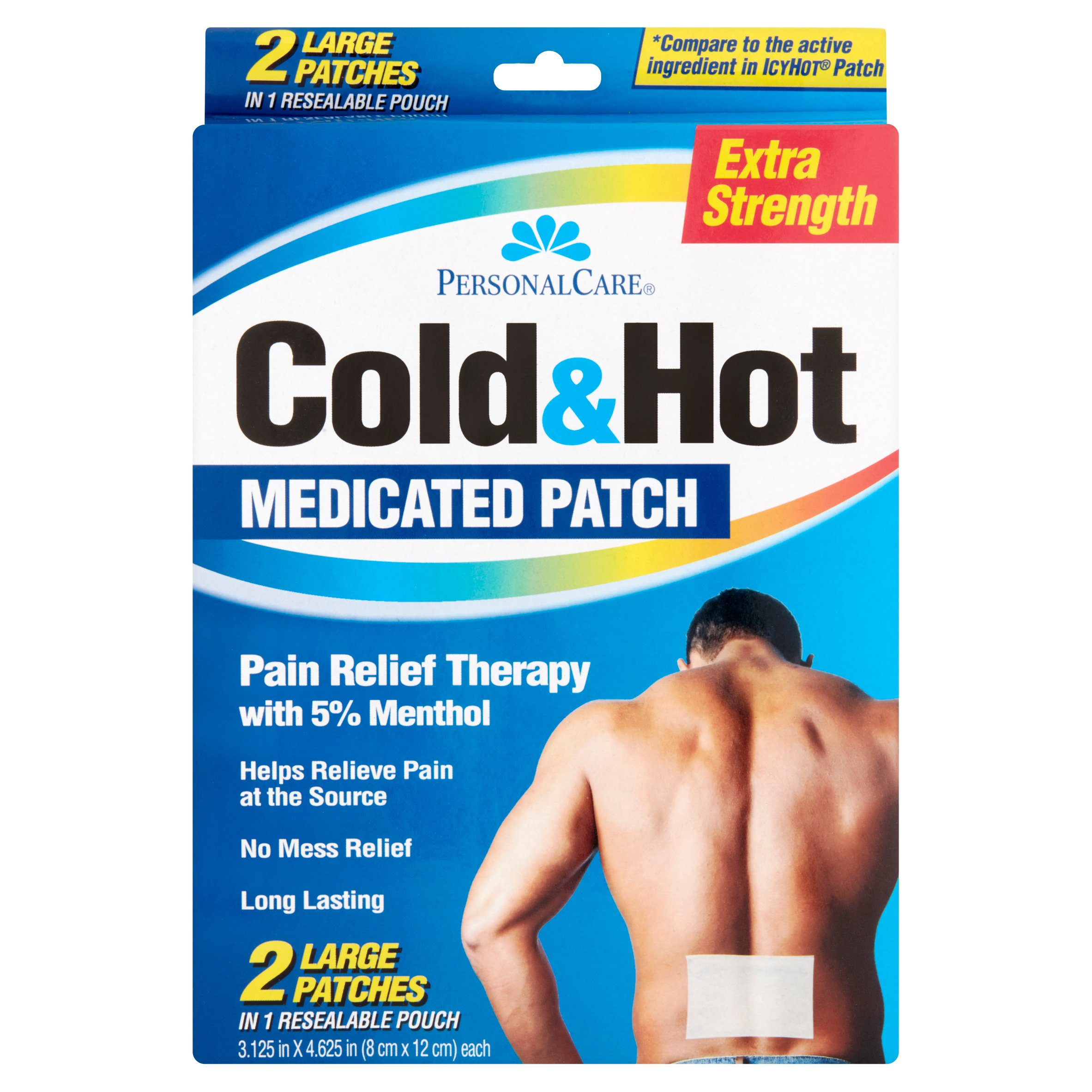 Personal Care Cold & Hot Pain Relief Therapy Patch, 2 ct