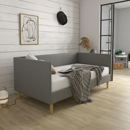 DHP Franklin Mid Century Daybed, Twin, Gray Linen
