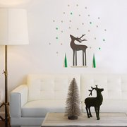 Trendy Peas Reindeer Fabric Wall Decal