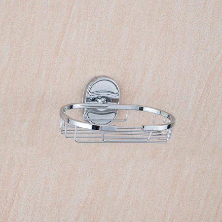 Pro Space Soap Dish Rust Proof Stainless Steel Soap Holder for Bathroom&Kitchen, Chrome, Installation Accessories Include