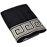 Eternity Embroidered Bath Towel - Black