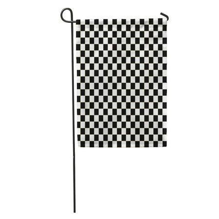 KDAGR Chequered Checkered Flag Racing White Race Auto Black Car Check Garden Flag Decorative Flag House Banner 12x18 inch](Race Car Checkered Flag)