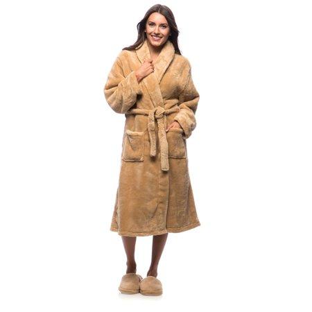 f446e2d549 Cozy Fleece - Cozy Fleece Ultrasoft Plush Bath Robe and Slipper Set -  Walmart.com