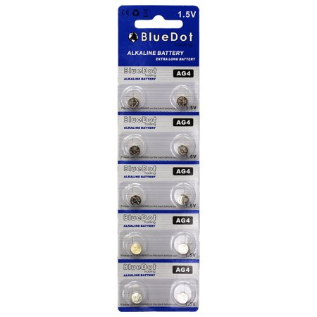 BlueDot Trading AG4 (also known as LR66 and LR636) Alkaline Button Cell Batteries - 10 - Ag4 Batteries