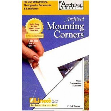Lineco Poly Mounting Corners 3