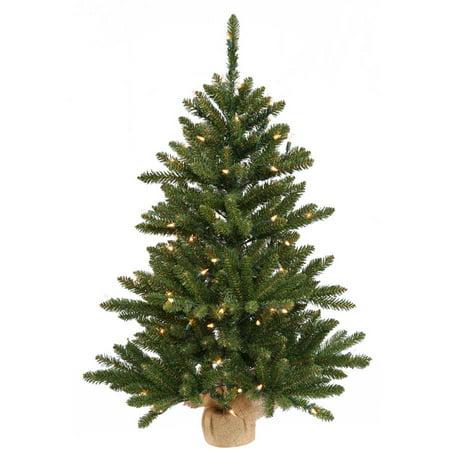 "Vickerman 42"" Anoka Pine Artificial Christmas Tree with 150 Multi-Colored Lights"