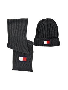 Tommy Hilfiger Men's Hat and Scarf Set