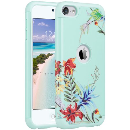 - iPod Touch 6th Generation Case, iPod Touch 5th Generation Case,ULAK Dual Layer Soft Silicone Rubber Case Protective PC Cover For Apple iPod Touch 5th Gen/6th Gen