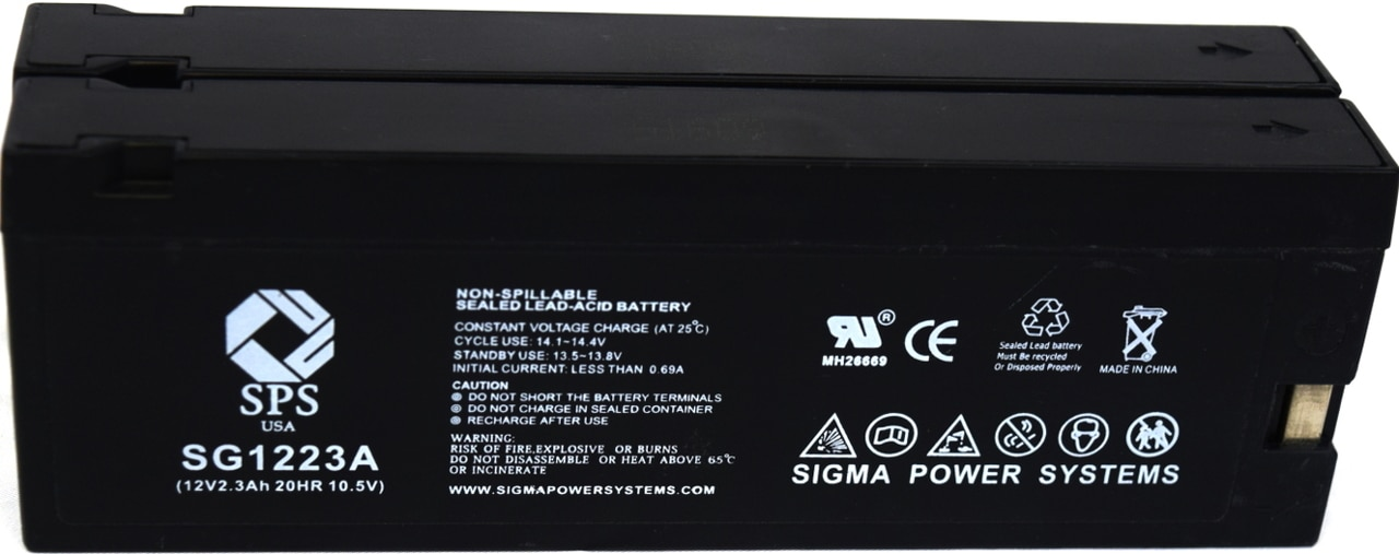 2 Pack SPS Brand 12V 2.3Ah Camcorder Replacement Battery for Magnavox VR8450 Video Camera
