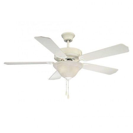 Savoy House First Value Ceiling Fan - White - 52-ECM-5RV-WH