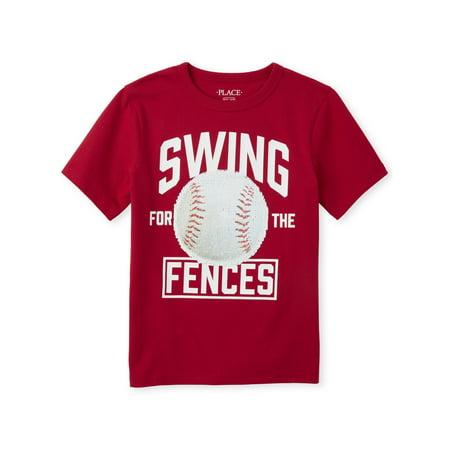 Big Chuck Baseball (The Children's Place Short Sleeve 'Swing for the Fences' Baseball Graphic Flip Sequin T-Shirt (Little Boys & Big Boys))