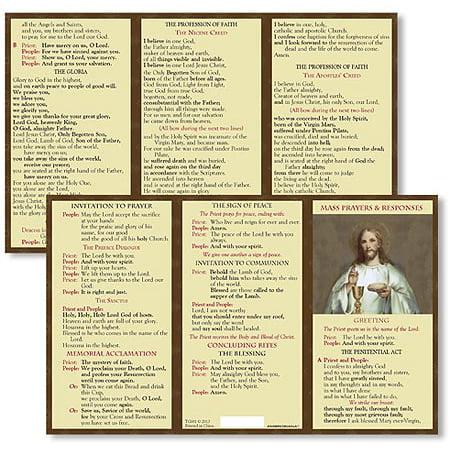 Catholic Mass Cards - Catholic Mass Response Card