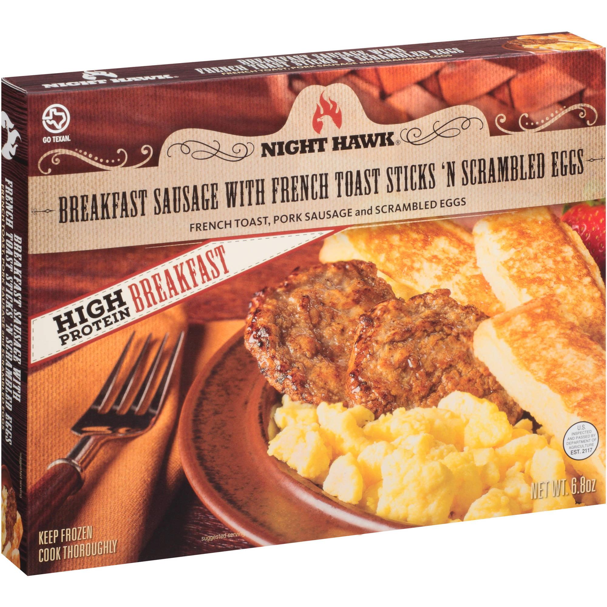 Night Hawk Breakfast Sausage with French Toast Sticks 'N Scrambled Eggs Frozen Entree, 6.8 oz