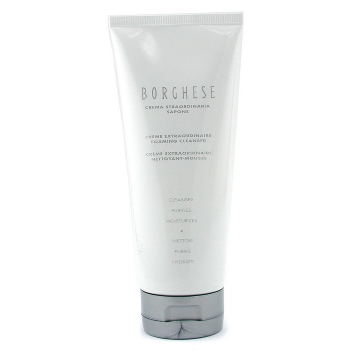 Borghese - Creme Extraordinaire Foaming Cleanser - 200ml/6.7oz Get your Glow On Skin-Brightening Facial Peel Mask - 3.4 oz. by Formula 10.0.6 (pack of 6)