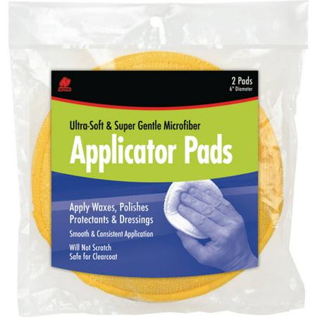 Buffalo Microfiber Wax Applicator Pads, 2pk (Lambswool Wax Applicators)