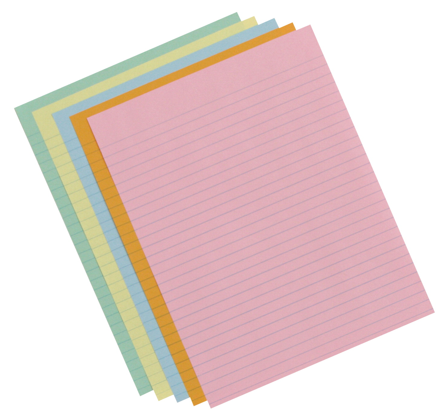 School Smart Ruled Exhibit Paper, 8-1/2 x 11 Inches, Assorted Colors, 500 Sheets
