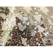 """Sequin Semi Fish Scale Stretch Fabric SILVER / 60"""" Wide / Sold by the yard"""