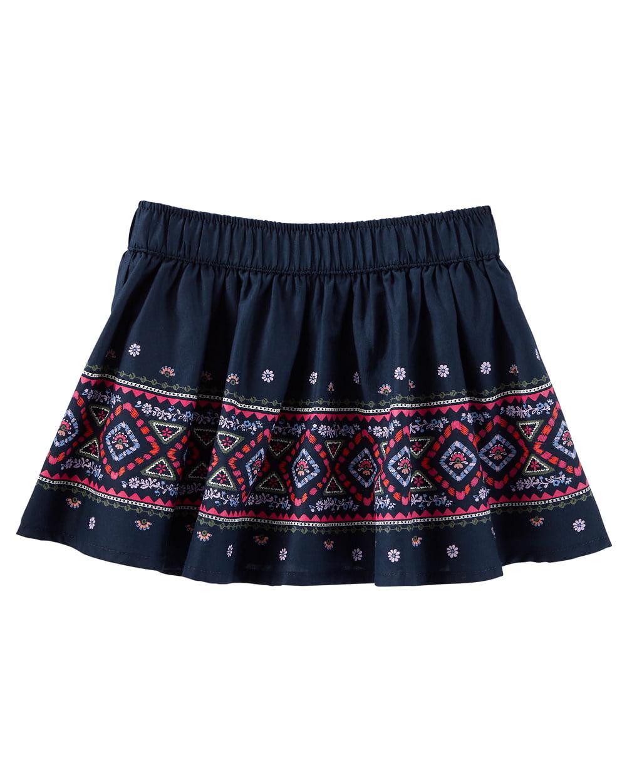 OshKosh B'gosh Baby Girls' 2 Piece Geo Border Print Skirt, 9 Months