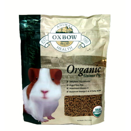 Guinea Pig Bene Terra Organic Food and Treats, 3-Pound, 3-Lb Bag . By Oxbow Animal (50 Lb Bag Of Guinea Pig Food)