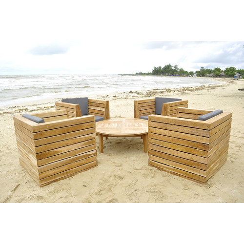 Willow Creek Designs Pacific 5 Piece Deep Seating Group with Cushion