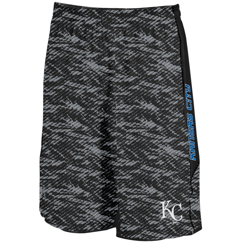 Kansas City Royals Under Armour Raid Novelty Shorts - Black/Steel
